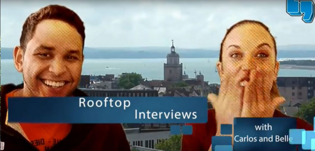 roof top interview with carlos