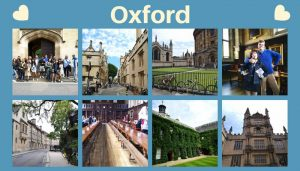 a collage of pictures of Oxford
