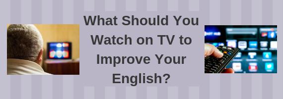 Advanced English language student watching TV Show