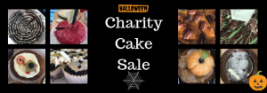 Charity cake sale poster