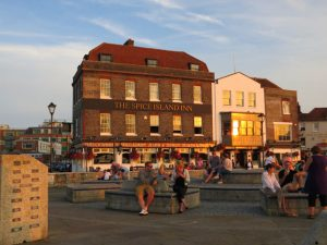 """<img src=""""Portsmouth views by the sea.jpg"""" alt=""""Views of the buildings next to the sea in Portsmouth"""">"""