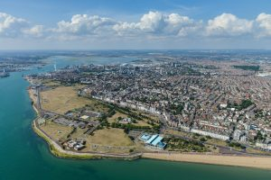 A view of Portsmouth from the sky