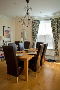 Cosy, comfortable dining room in executive accommodation.