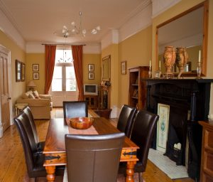 Dining room in an executive home.