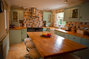 A lovely wooden kitchen in an executive home.