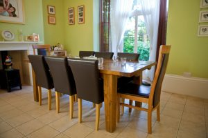 Dining room in LSI Portsmouth accommodation.