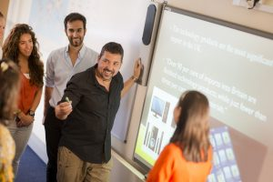 Interactive whiteboards in LSI Portsmouth classroom