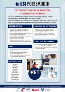 New: Part Time OET Course - LSI Portsmouth
