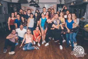 Group photo of LSI Portsmouth salsa students