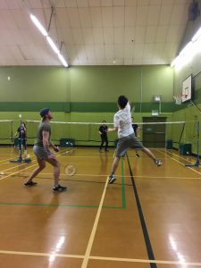 LSI Portsmouth students playing badminton