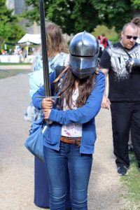 LSI Portsmouth student dresses as knight.