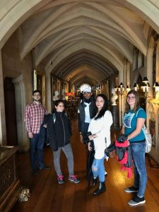 LSI Portsmouth students inside a castle.