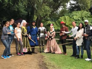 LSI Portsmouth students meet knights and ladies