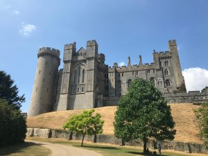Arundel castle in the sun.