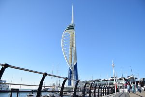 Spinnaker tower on a sunny day