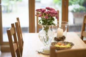 Beautiful flowers on a table in an LSI Portsmouth house.