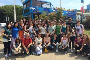 A group of LSI Portsmouth students on the Isle of Wight