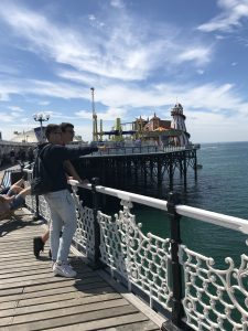Students on Brighton Pier