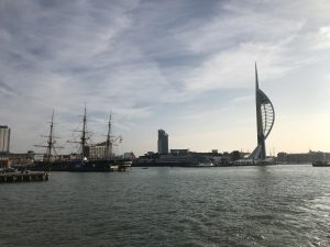 A shot of the historic dockyard and Spinnaker