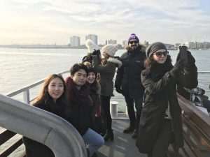 LSI Portsmouth Students on a boat cruise