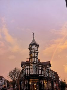 Castle road clock tower