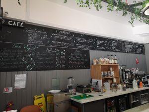 The behind the counter menu at 113
