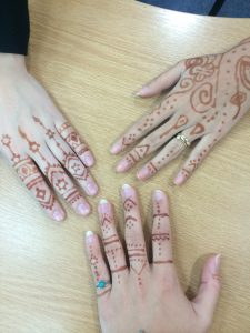 LSI Portsmouth students demonstrate their Henna