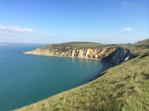 A view of the Isle of Wight cliffs