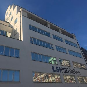 LSI Portsmouth building in the morning