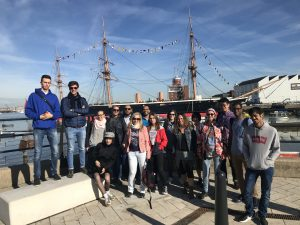 LSI Portsmouth students enjoying historic dockyard