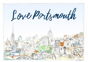 A postcard of Portsmouth