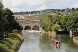 A view of the river which runs through Bath