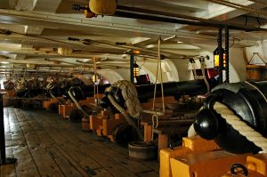 The interior of the HMS Victory