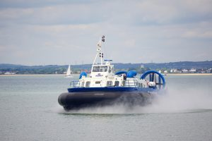 Taking the hovercraft to the isle of wight