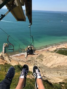 Going down the Isle of wight cliffs