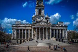 Guildhall square in Portsmouth
