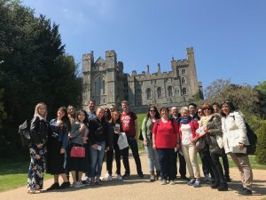 LSI Portsmouth students outside Arundel castle.