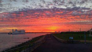 Portsmouth at sunset