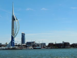 Spinnaker tower from the harbor