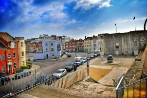 The streets of old Portsmouth