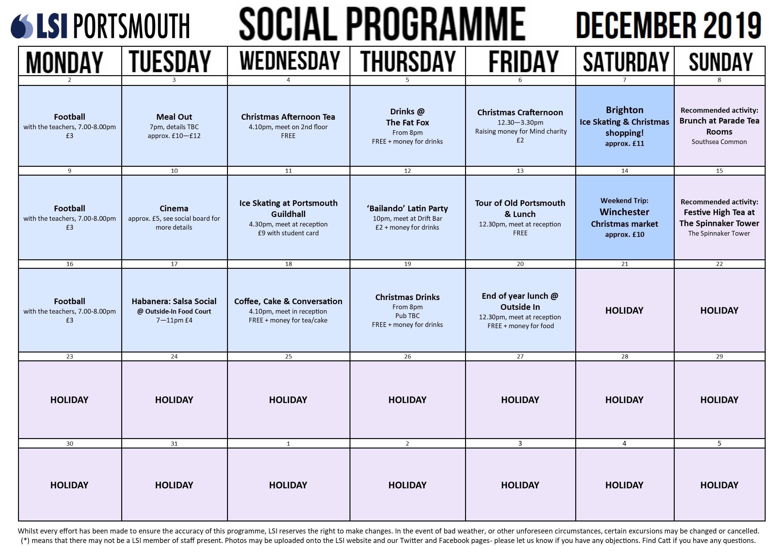 social programme