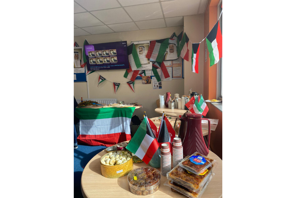 decorations at the Kuwait National Day celebration