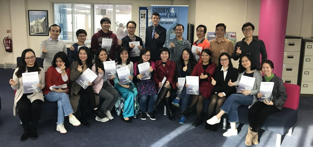 Vietnamese students learning on an English language course in the UK