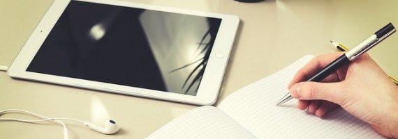 student doing Cambridge exam preparation online